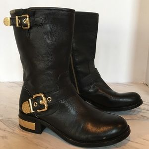 Vince Camuto Leather Moto Boots